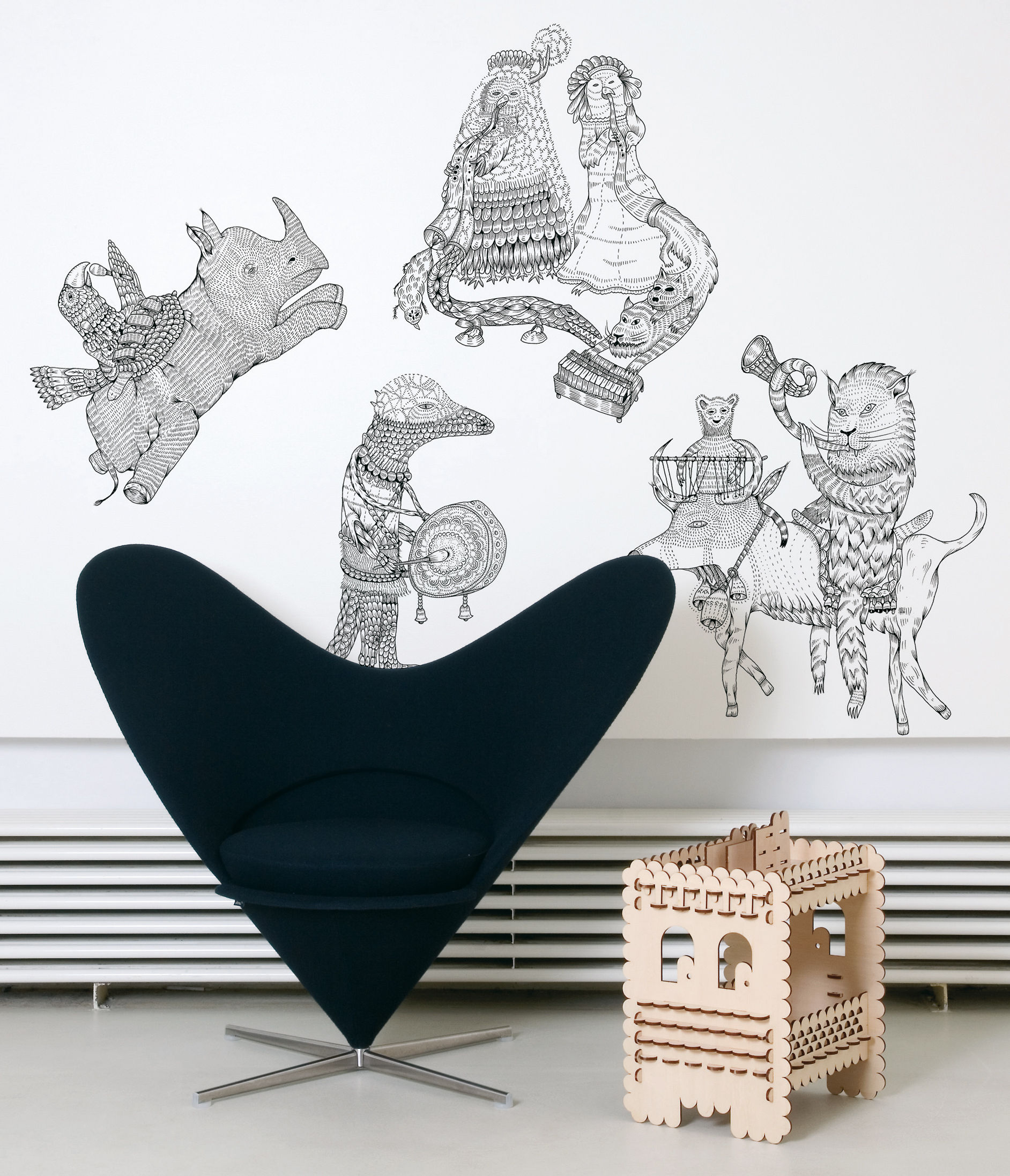 Interni - Sticker - Sticker Hivibes di Domestic - Nero - Vinile