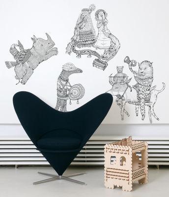 Déco - Stickers, papiers peints & posters - Sticker Hivibes - Domestic - Noir - Vinyle