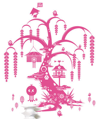 Decoration - Wallpaper & Wall Stickers - Willow tree Sticker by Domestic - Pink - Vinal