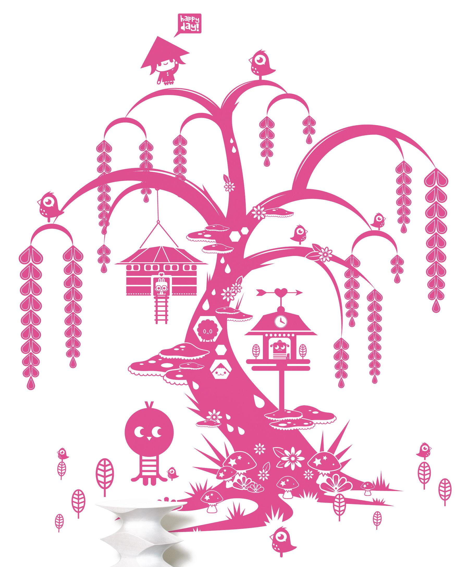 Dekoration - Stickers und Tapeten - Willow tree Sticker - Domestic - Rosa - Vinyl