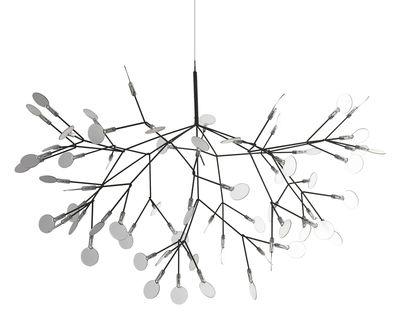 Luminaire - Suspensions - Suspension Heracleum / Ø 98 cm - Moooi - Nickel - Métal, Polycarbonate