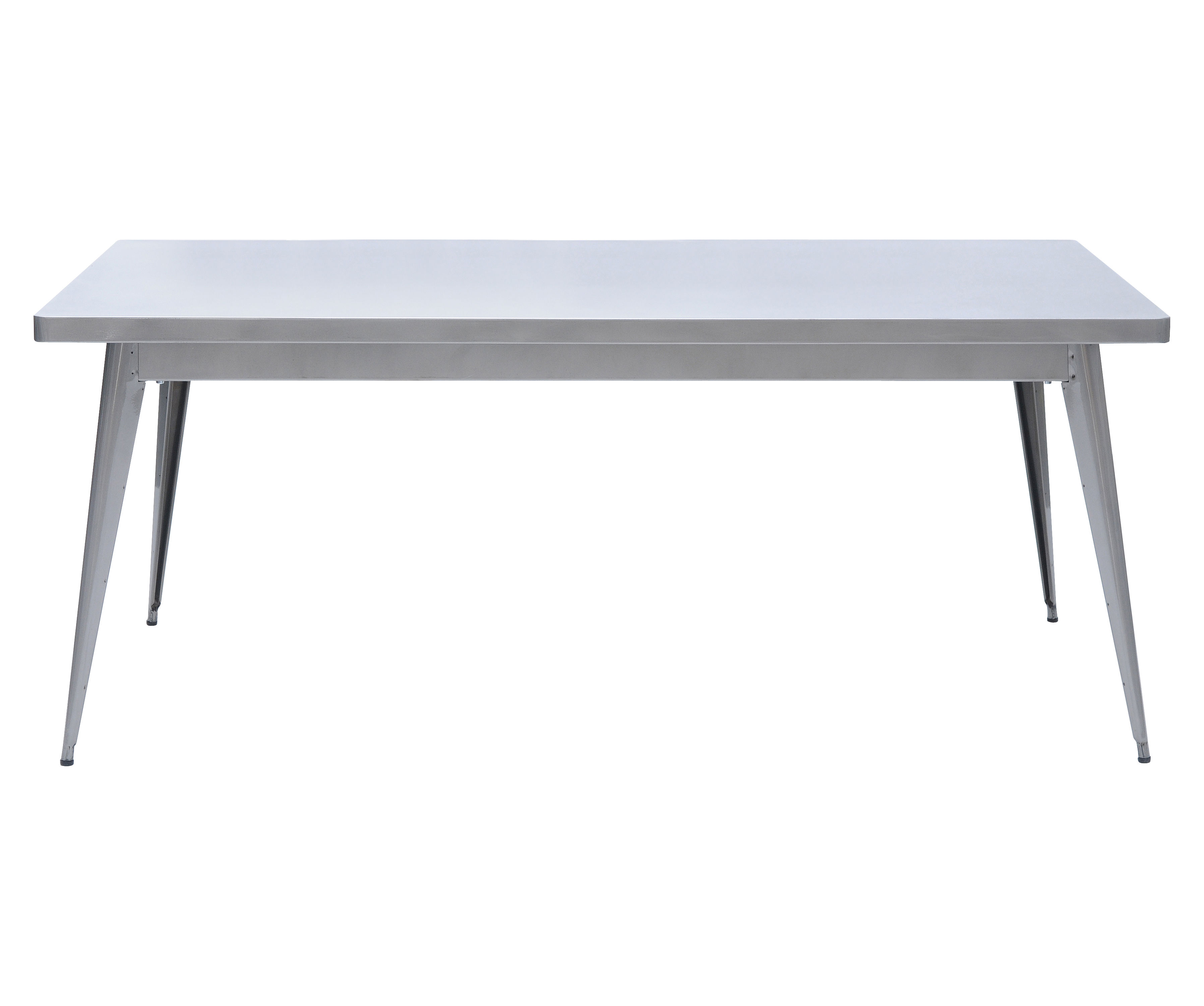 Mobilier - Tables - Table 55 / 190 x 80 cm - Pieds métal - Tolix - Acier brut verni brillant - Acier brut verni brillant