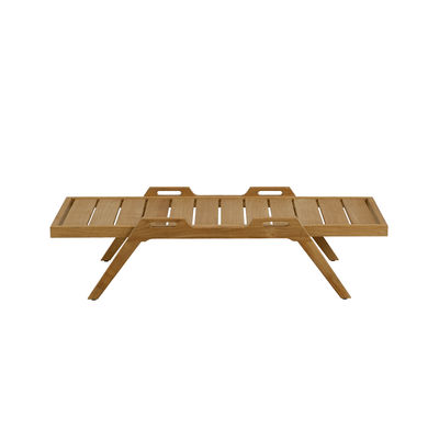 Mobilier - Tables basses - Table basse Synthesis / 127 x 54 cm - Teck - Unopiu - Teck - Teck