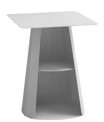 Table d'appoint Ankara / 39 x 39 cm x H 50 cm - Matière Grise gris alu en métal