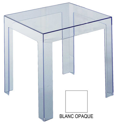 Table d'appoint Jolly version opaque - Kartell blanc en matière plastique