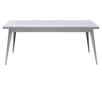 Mobilier - Tables - Table rectangulaire 55 / 190 x 80 cm - Pieds métal - Tolix - Acier brut verni brillant - Acier brut verni brillant