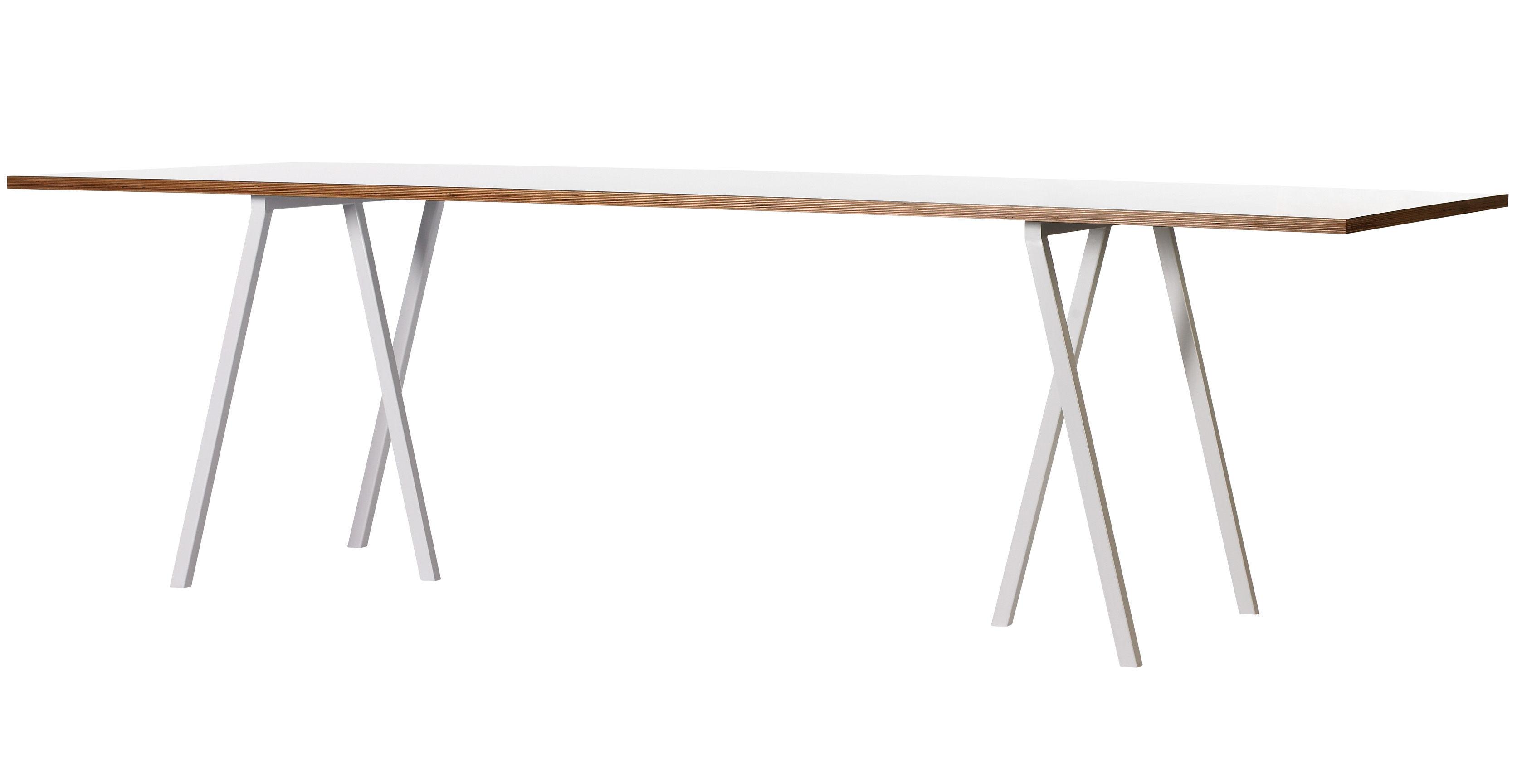 Vitrine IT - Vitrine Mobilier IT - Table rectangulaire Loop / L 200 cm - Hay - Blanc - Acier laqué, Stratifié