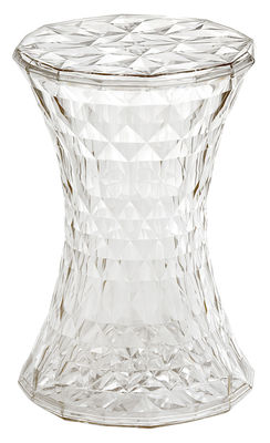 Tabouret Stone / Plastique - Kartell transparent en matière plastique