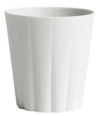 Tischkultur - Tassen und Becher - Iris Tasse / runder Becher - handgemacht - Hay - Rund / Weiß - Porzellan
