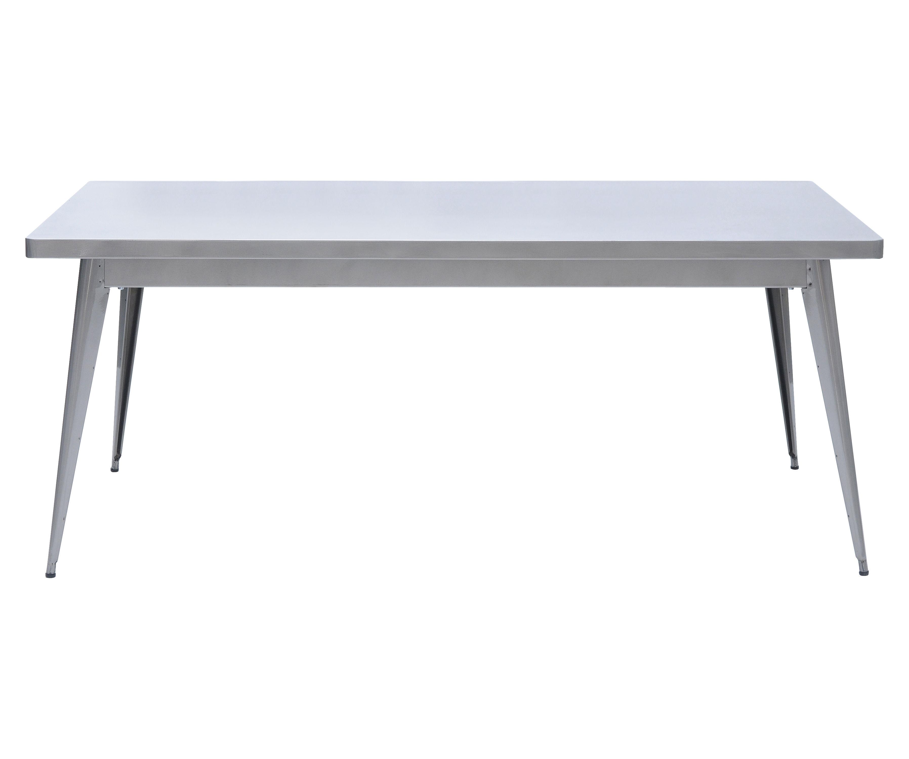 Arredamento - Tavoli - Tavolo rettangolare 55 - L 180 x larg 90 cm di Tolix - 180 x 90 cm - Vernice grezza brillante - Acciaio grezzo verniciato lucido
