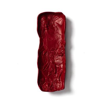 Accessoires - Accessoires bureau - Vide-poche Replica 2 / Plumier - Céramique - Moustache - Rouge - Céramique émaillée