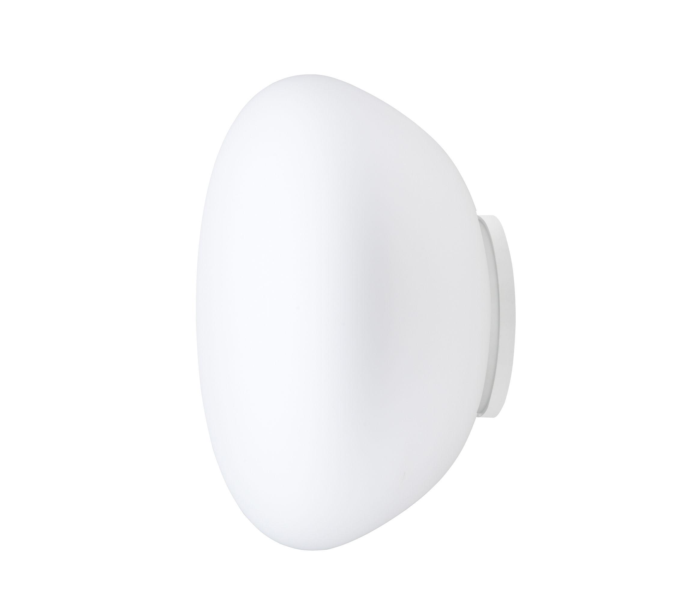 Lighting - Wall Lights - Poga Wall light - Ø 42 cm by Fabbian - White - Glass