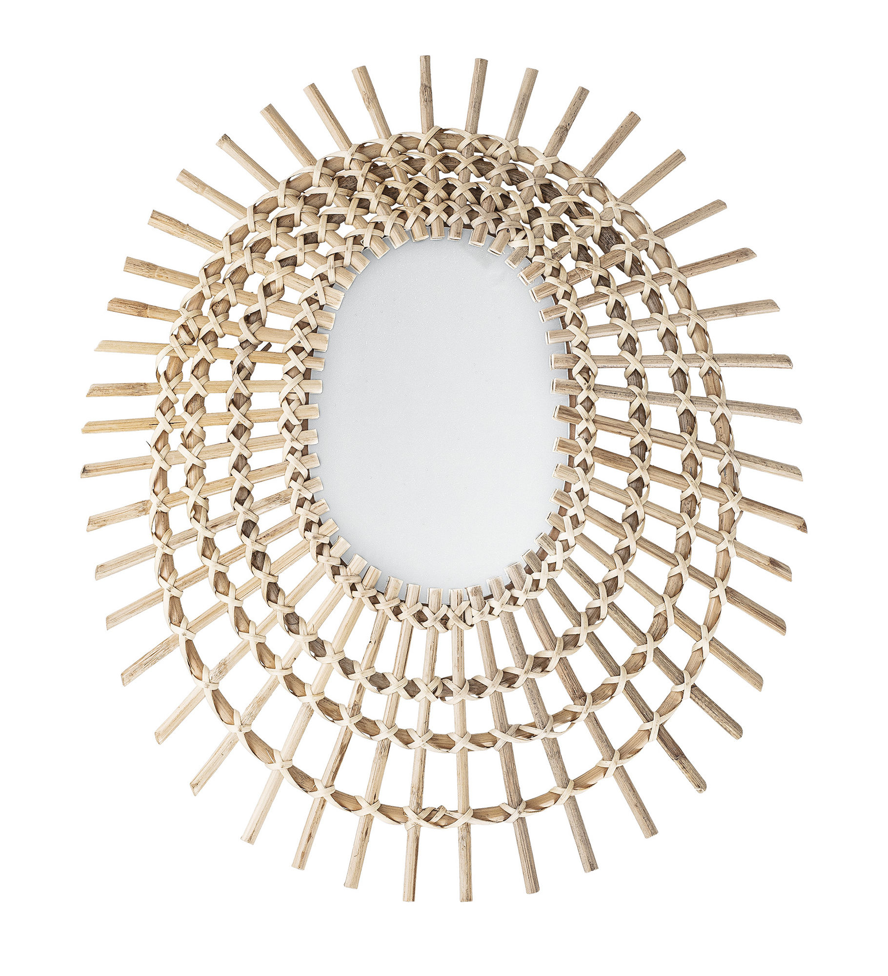 Decoration - Mirrors - Wall mirror - / 54 x 64 cm by Bloomingville - Rattan - Glass, Rattan