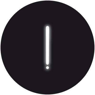 Neon Art Wandleuchte mit Stromkabel / !-Zeichen - Seletti - Weiß