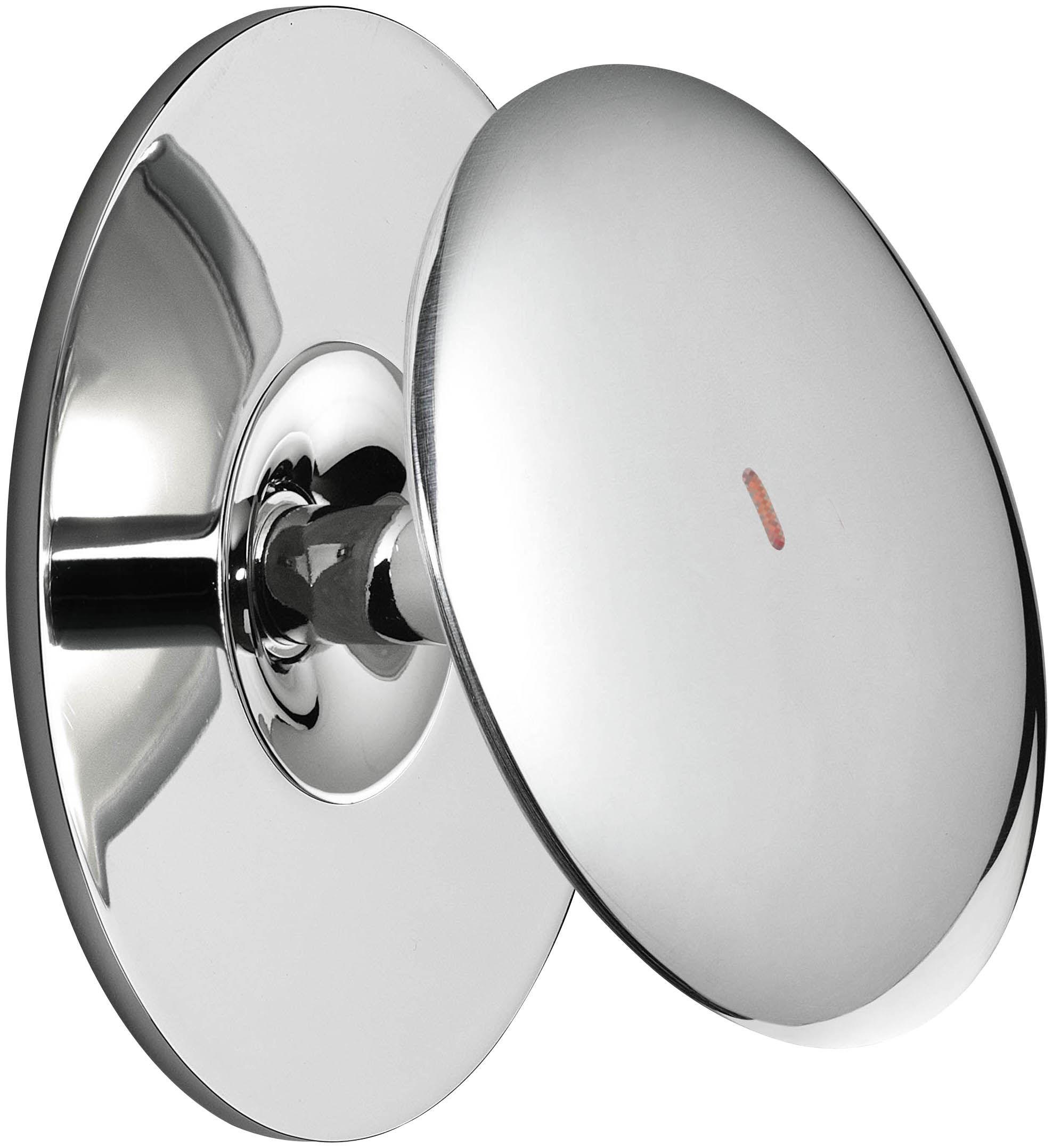 Luminaire - Appliques - Applique Back 1 LED / Ø 10,3 cm - Interrupteur sensitif - Flos - Avec interrupteur / Chromé - Aluminium moulé sous pression, Méthacrylate