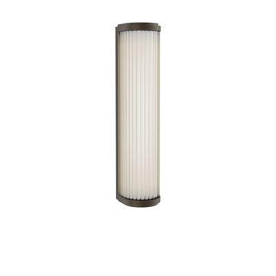 Illuminazione - Lampade da parete - Applique Versailles LED - / Lamelle di vetro - L 37 cm di Astro Lighting - Bronzo - Acciaio, Vetro
