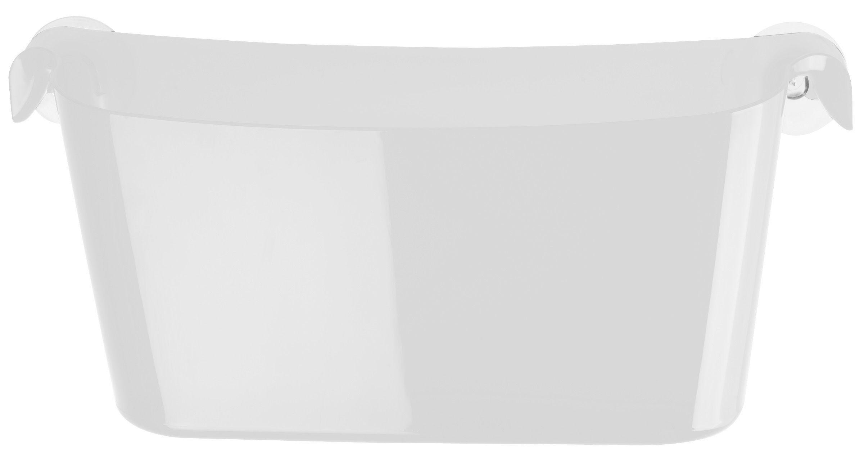 Déco - Salle de bains - Bac de rangement Boks avec ventouses - Koziol - Cristal - Matière plastique