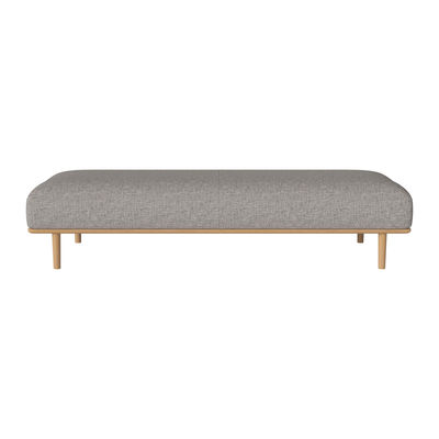 Mobilier - Poufs - Banquette Madison / Tissu - L 197 cm - Bolia - Gris - Chêne, Tissu