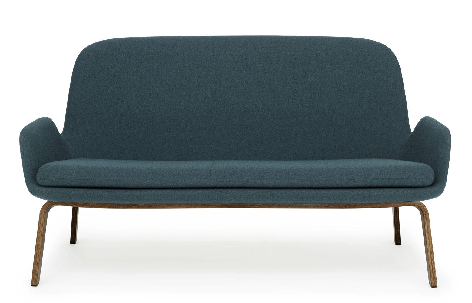 canap droit era l 145 cm tissu bois tissu bleu vert pieds noyer normann copenhagen. Black Bedroom Furniture Sets. Home Design Ideas