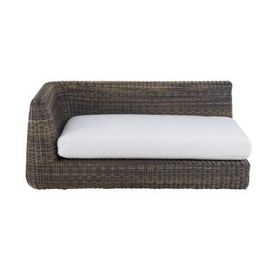 Canapé modulable Agorà / Module accoudoir Droite - L 160 cm - Unopiu blanc écru,marron tropical en matière plastique