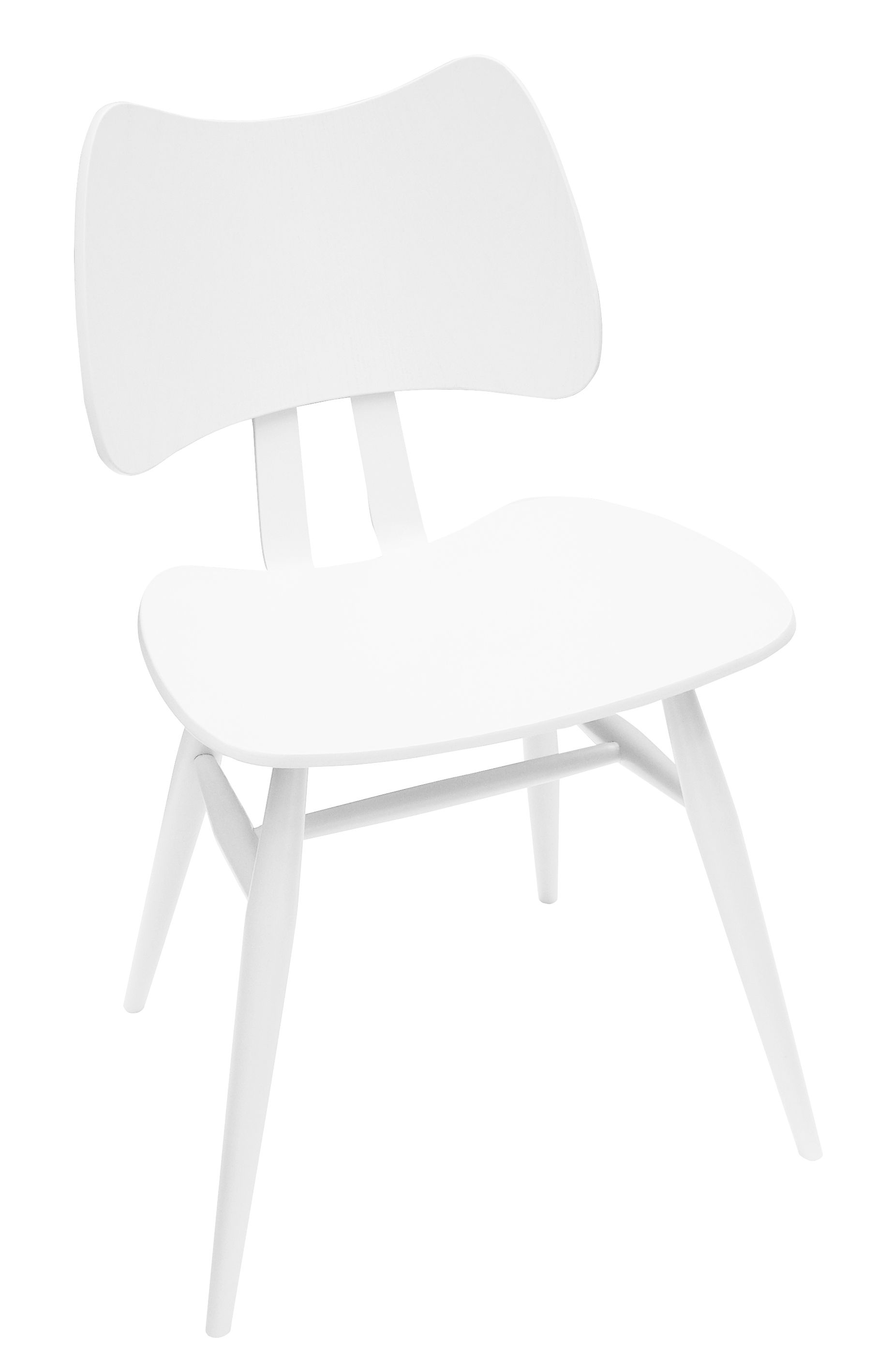 Furniture - Chairs - Butterfly Chair - Wood - 1958 Reissue by Ercol - White - Contreplaqué de orme, Natural beechwood