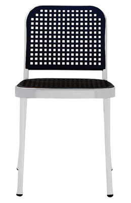 Furniture - High Tables - Silver Chair by De Padova - Satined alu/ Black - Polypropylene, Satin aluminium