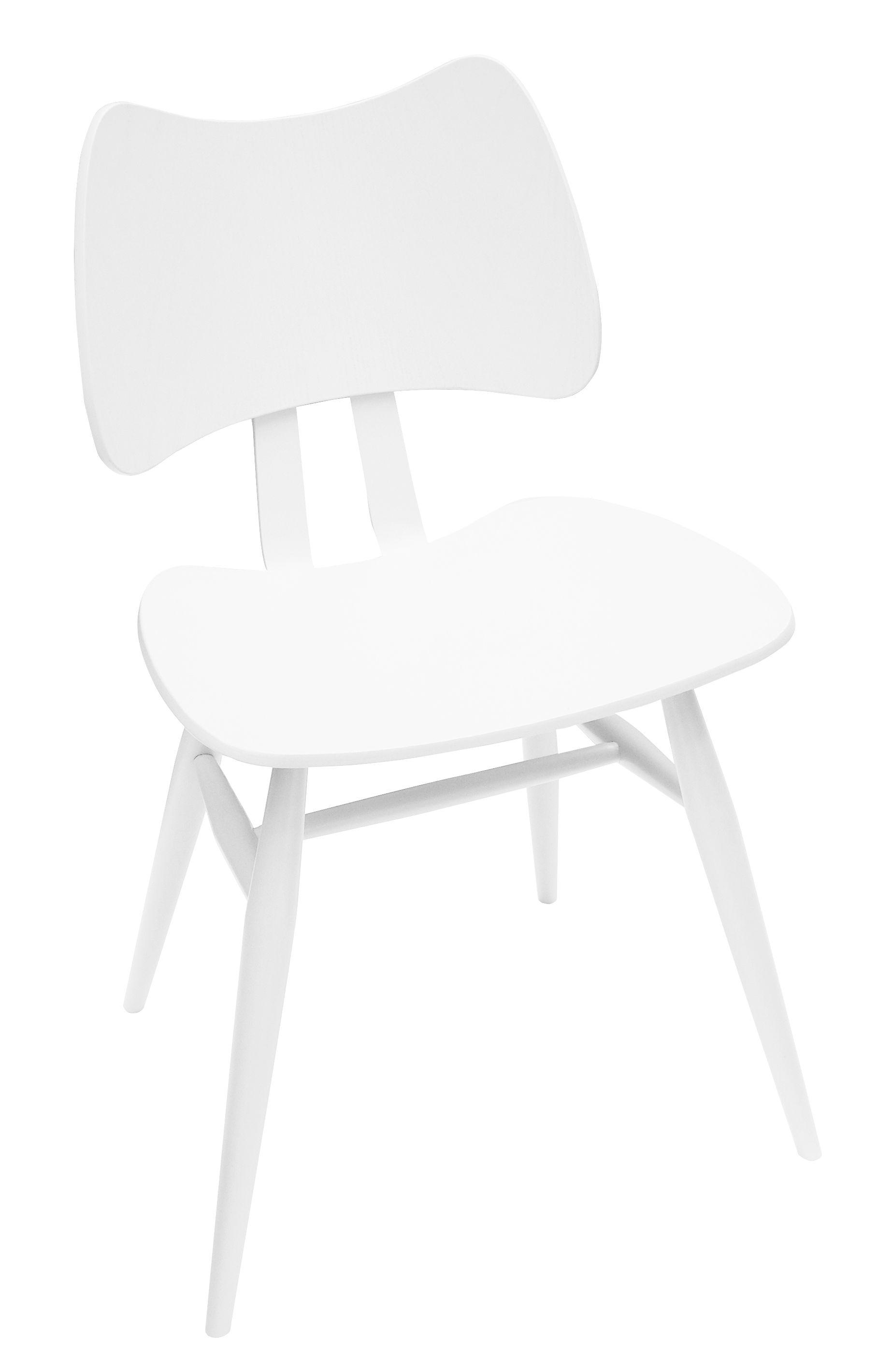 Mobilier - Chaises, fauteuils de salle à manger - Chaise Butterfly / Bois - Réédition 1958 - Ercol - Blanc - Contreplaqué de orme, Hêtre massif