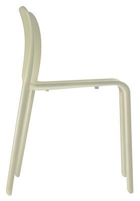 Chaise empilable First Chair / Plastique - Magis beige en matière plastique