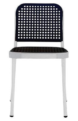 Chaise Silver / Aluminium & plastique - De Padova noir,aluminium satiné en matière plastique