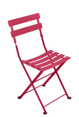 Furniture - Kids Furniture - Tom Pouce Children's chair - / Foldable - Steel by Fermob - Praline pink - Painted steel