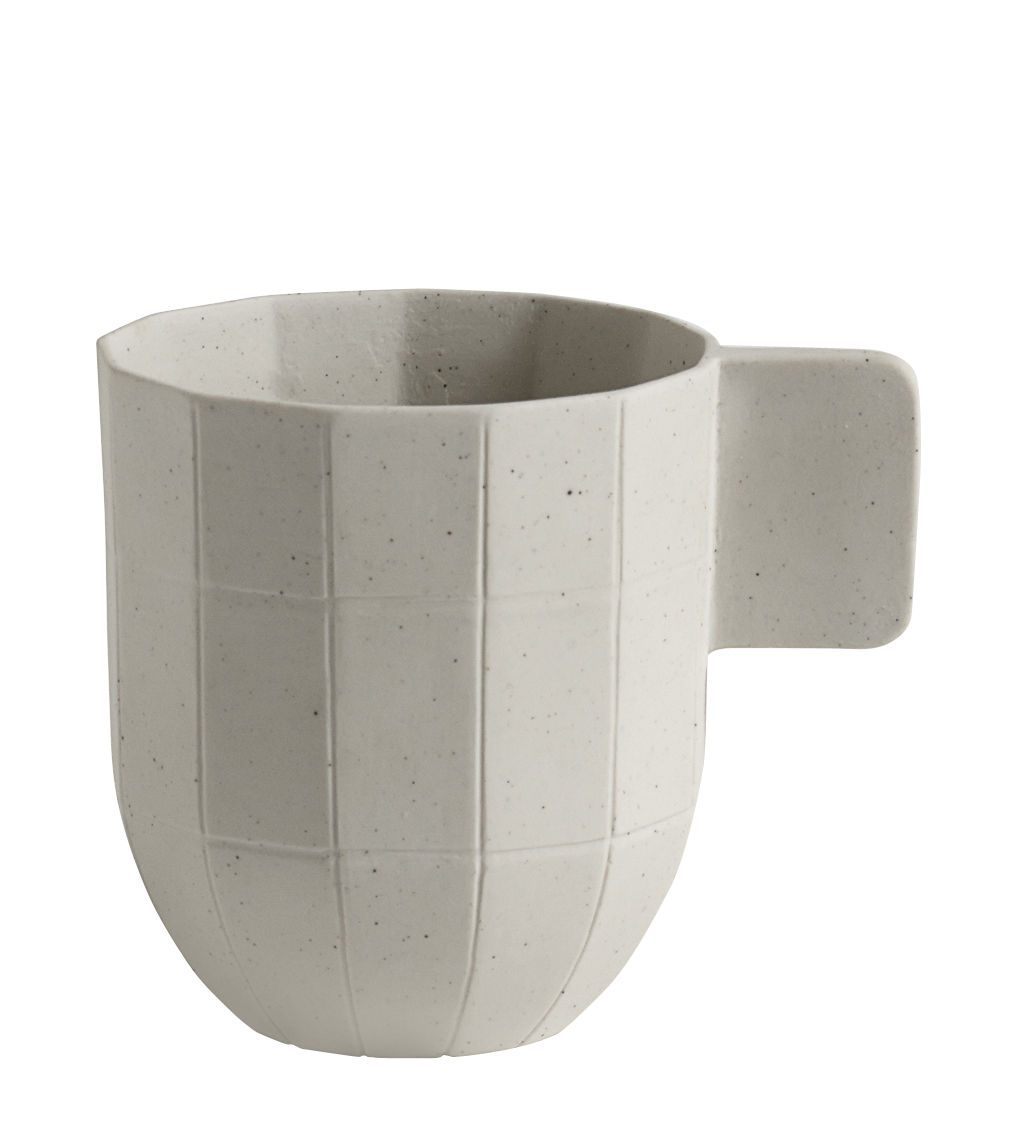 Tableware - Coffee Mugs & Tea Cups - Paper Porcelain Coffee cup - Porcelain by Hay - Cup / Light grey - China, Metal particles