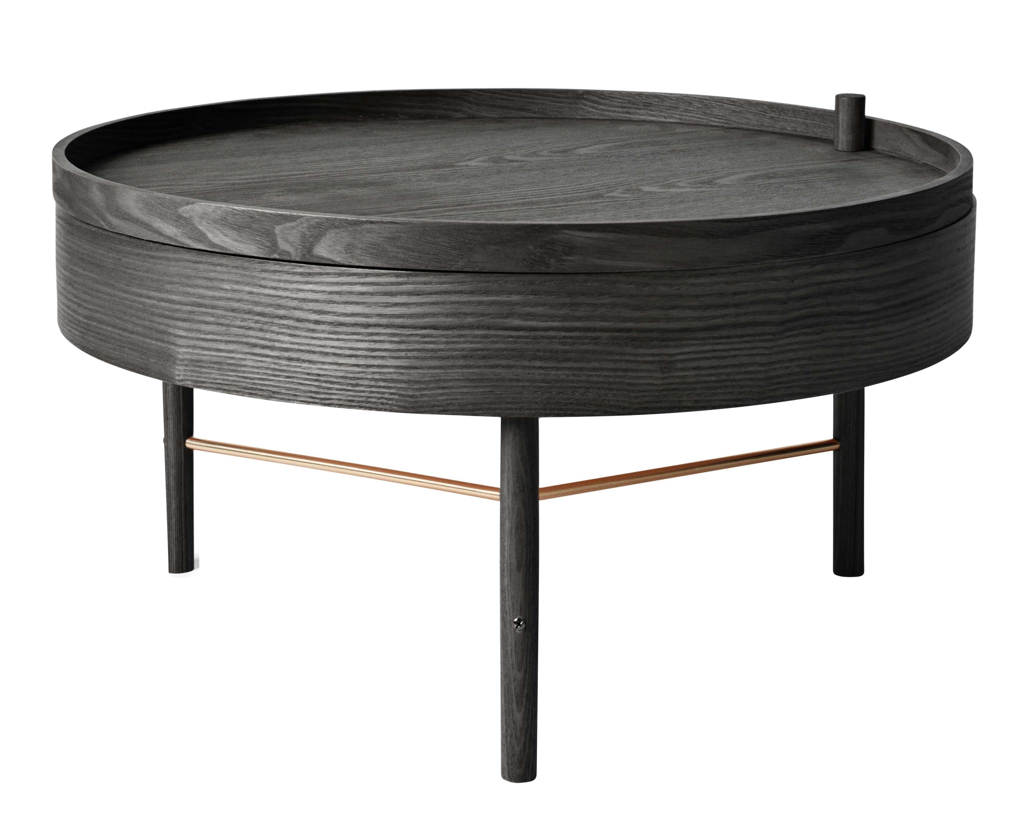 Coffee Table Turning Table By Menu Black Ash H 36 X ø 65 Made