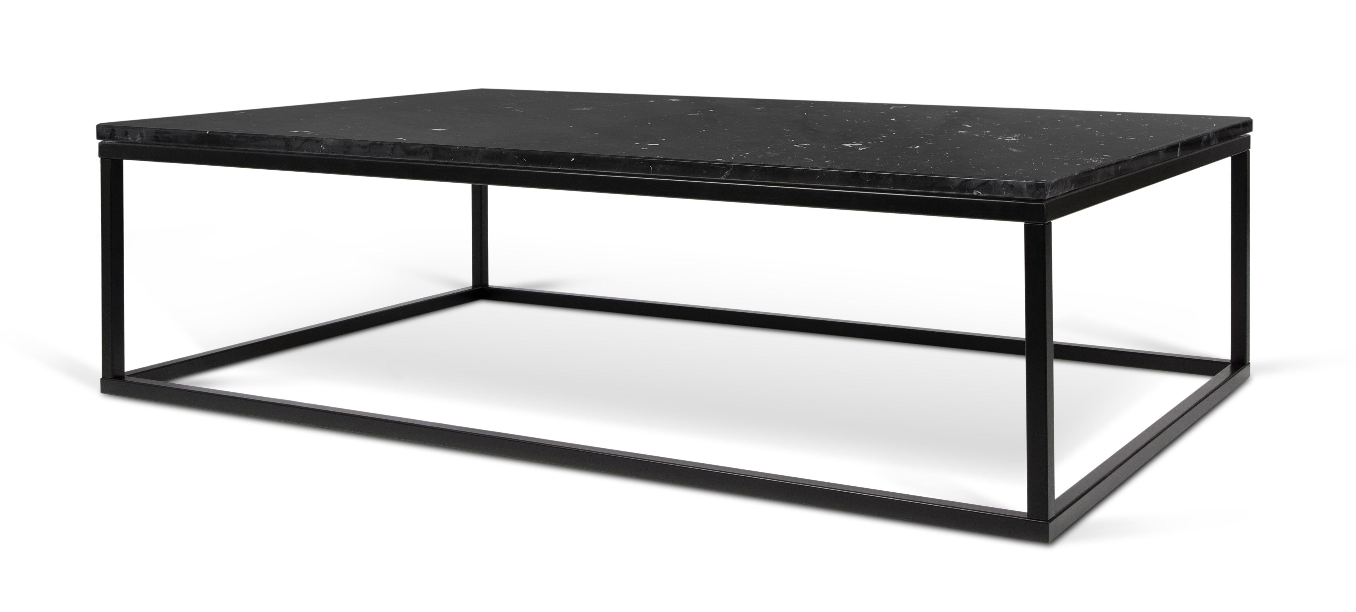 marble couchtisch marmor 120 x 75 cm tischplatte schwarz tischgestell schwarz by pop up. Black Bedroom Furniture Sets. Home Design Ideas