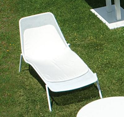 Coussin pour chaise longue Round - Emu L 135 cm x larg 64 cm x épaisseur 3,5 cm - Dossier : L 46,5 cm / Assise : L 88,5 cm gris en tissu