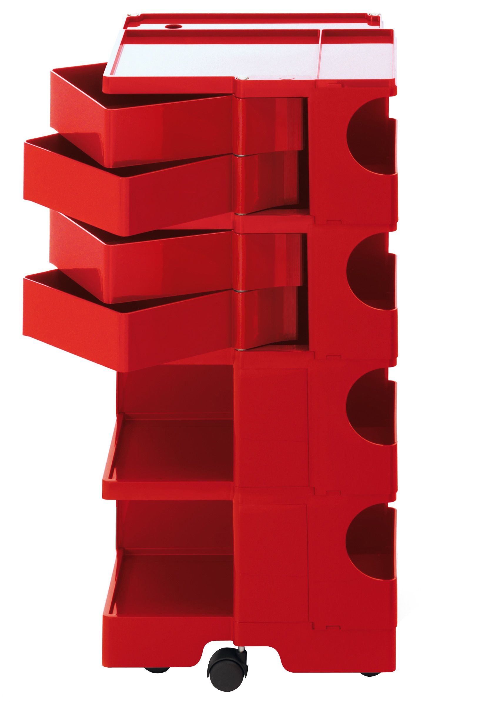 Furniture - Miscellaneous furniture - Boby Trolley - H 94 cm - 4 drawers by B-LINE - Red - ABS