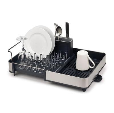 Égouttoir à vaisselle extensible Extend Steel / L 32 à 52.7 x P 36,4 cm - Inox / Evacuation de l'eau - Joseph Joseph gris/métal en métal/matière plastique