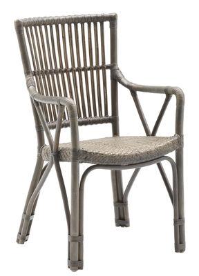 Chaise Piano - Sika Design taupe en rotin & fibres