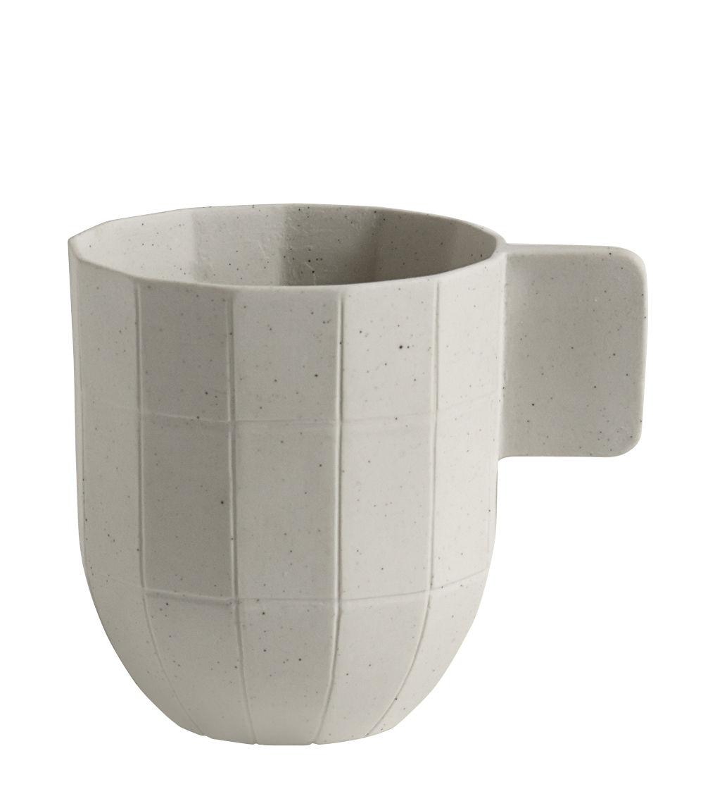 Tischkultur - Tassen und Becher - Paper Porcelain Kaffeetasse / aus Porzellan - Hay - Tasse / hellgrau - Metallpartikel, Porzellan