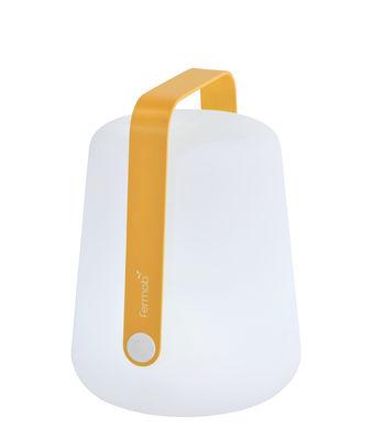 Illuminazione - Lampade da tavolo - Lampada senza fili Balad Small LED - / H 25 cm - Ricarica USB di Fermob - Miele - Alluminio, Polietilene