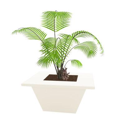 Möbel - Leuchtmöbel - Bench leuchtender Blumentopf 80 x 80 cm - Slide - 80 x 80 cm - weiß - für den Außeneinsatz - polyéthène recyclable