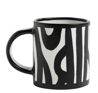 Mug Wood / Dipinto a mano - Hay blanc en céramique