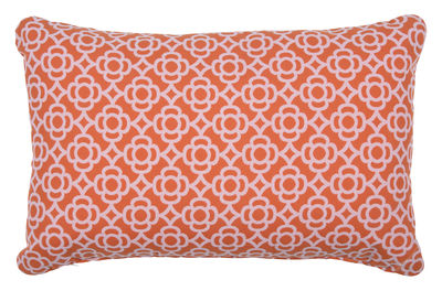Decoration - Cushions & Poufs - Lorette Outdoor cushion - / 68 x 44 cm by Fermob - Carrot - Acrylic