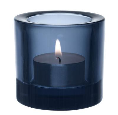 Déco - Bougeoirs, photophores - Photophore Kivi / H 6 cm - Iittala - Bleu pluie - Verre