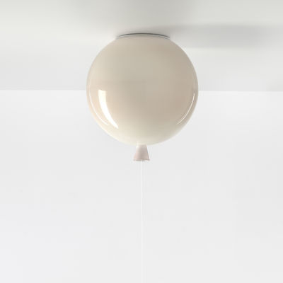 Image of Plafoniera Memory Small - / Ø 25 cm - Vetro di Brokis - Rosa chiaro - Vetro