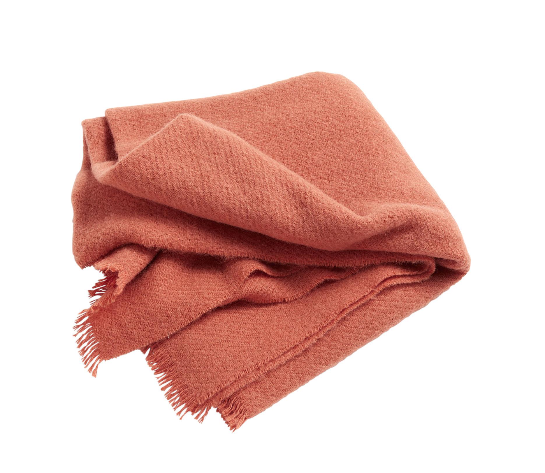 Decoration - Bedding & Bath Towels - Mono Plaid - / 130 x 180 cm - Wool by Hay - Orange - Wool