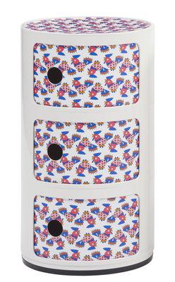 Arredamento - Mobili per bambini - Portaoggetti Componibili La Double J - / 3 cassetti - H 58 cm di Kartell - Bianco Galletti - ABS