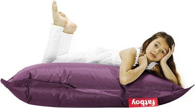 Pouf Junior / Pour enfant - Fatboy Larg 100 x L 130 cm violet foncé en tissu