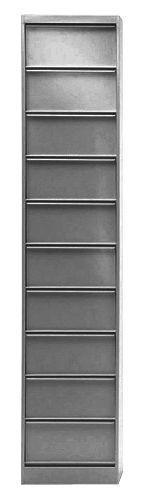 Mobilier - Meubles de rangement - Rangement Classeur à clapets CC10 / 10 clapets - Tolix - Acier brut verni brillant - Acier brut verni brillant