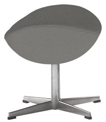 Mobilier - Poufs - Repose-pieds Egg / Tissu - Fritz Hansen - Gris foncé - Aluminium poli, Mousse, Résine, Tissu