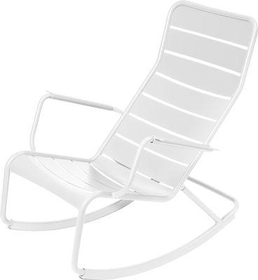 Rocking chair Luxembourg / Aluminium - Fermob blanc en métal